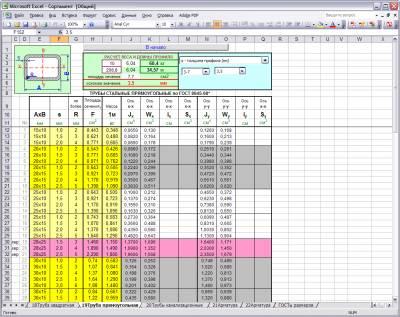 Сортамент в Excel 4
